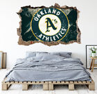 Oakland Athletics Wall Art Decal MLB Baseball Team 3D Smashed Wall Decor WL83 on Ebay