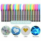 Pastel Colorful Gel Pen Set Neon Glitter Refill Highlighter Sketch Drawing Tool