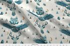 Geometric Wolf Eagle Stag Mountains Animals Fabric Printed by Spoonflower BTY
