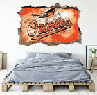 Baltimore Orioles Wall Art Decal MLB Baseball Team 3D Smashed Wall Decor WL93 on Ebay