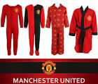 Kids Boys Official Manchester United Pyjamas Dressing Gown Sleep Suit Man Utd PJ <br/> Clearance - Limited Stock Remaining - Official Man Utd