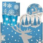 Reindeer & Snowflake Christmas Party Supplies Tableware, Balloon, Decorations
