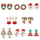 1 Pair Christmas Earrings Santa Xmas Trees, Snowmen Gift Jewelry Uk Hot