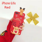 Elk Snowman Shockproof Christmas Phone Cases Cover for iphone6 6 6s 7 8 X Plus!!