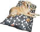 XXL Very Soft Hollow Fiber Cushion Washable Waterproof Zipped Cover Dog Bed