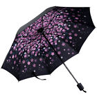 Women Windproof AntiUV Compact Rain Sun Umbrella Parasol Folding Travel Portable