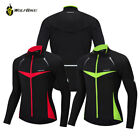 Winter Men Long Sleeve Cycling Jersey Windproof Thermal Coat Warm Cycling Jacket