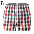 Plus Size Men Cotton Plaid Underwear Pants Loose Sleep Shorts Casual Underpants