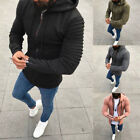 New Fashion Mens Thick Zip-Up Hoodie Winter Warm Hooded Jacket Jumper Tops