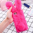Bunny Rabbit Fur Plush Fluffy Soft Phone Case Cover For iPhone X 6s 8 Plus XR XM