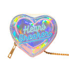 RARE | Coin Purse Fashion Lovely Heart Shape Holographic PU Leather Women
