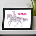 Personalised Horse Riding Equestrian Birthday Gifts for Her Girls Daughter She