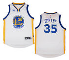 Youth Kevin Durant 35 Golden State Warriors NBA Adidas White Swingman Jersey