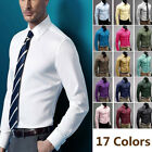 New Men Cotton Slim Fit Long Sleeve Formal Office Business Shirt Casual Fashion