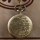 Vintage Pattern Full Hunter Doctor Who Quartz Pocket Watch+Necklace Chain 80 cm