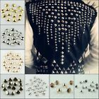 Внешний вид - 100pcs Punk Rock Pyramid Dome Star Round Gold Silver Nailhead Spike Rivets Studs