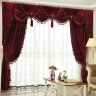 Luxury European thick red wedding room Italy velvet cloth curtain valance E915