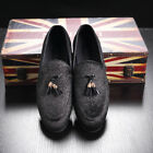 Tassel Casual Shoes Mens Low Heel Slip-on Loafers Night Club Party Shoes Plus 48
