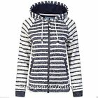 Ladies Ex-High Street Gorgeous Navy Mix Polyester Hoodie-Now Only £9.99 with P&P