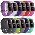 For Fitbit Charge 3 Replacement Silicone Sports Wrist Bands Straps Bracelet L/S image