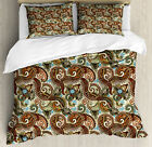 Paisley Duvet Cover Set with Pillow Shams Persian Teardrop Motif Print image