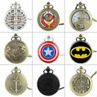 Retro Vintage Quartz Pocket Watch Necklace Pendant Steampunk Antique Chain Gift image