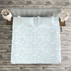 Baby Quilted Bedspread & Pillow Shams Set, Hearts Teddy Bears Clothes Print image