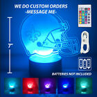 New Orleans Saints Personalized Led Lamp, Light Up 3D Night Light. Made in USA. on eBay