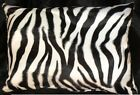Zebra Pillow Shams Standard, Queen, or King Faux Fur Pillow cases Set Of 2  image
