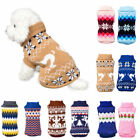 Small Medium Dog Jumper Cute Knitted Chihuahua Pet Clothes Sweater Costume US