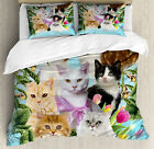Cat Lover Duvet Cover Set with Pillow Shams Cats Feline Domestic Print image