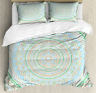 Mandala Duvet Cover Set with Pillow Shams Blooming Persian Flower Print image