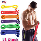 Heavy Duty Resistance Band Loop Power Gym Fitness Exercise Yoga Workout Band US image