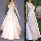 Women's Sexy Hollow Out Lace V-Neck Sleeveless Cocktail Prom Gown Party Dress