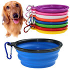 Portable Foldable Silicone Pet Dog Bowl Travel Feeding Drinking Food Container