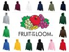 Fruit of the Loom Unisex Hoodie Sweatshirt Hooded Plain Top Jumper Sweater Hoody