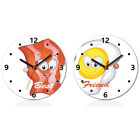 Best Friends BFF Burger Fires Thing 1 2 Wall Clock Home Office Room Decor Gift
