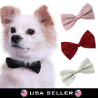 Dog Bowtie Adjustable Pet Collar Formal Bow Tie Tuxedo Puppy Cat Kitty Leash