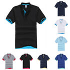 Mens Classic Short Sleeve Summer Golf Polo Shirts Solid T-Shirt Casual Tops Tee image