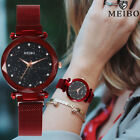 Ladies Watch Starry Sky Crystal Dial Women Bracelet Watches Magnetic Stainless image