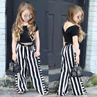 2pcs Newborn Toddler Infant Baby Kid Girl Clothes T-shirt Tops Pants Outfits Set