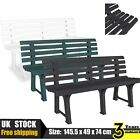 Garden Bench Plastic Outdoor Chair Patio Seat Stool Multi Colours 145.5x49x74 cm