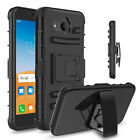 Cell Phone Case Holster Shockproof Rugged Hybrid Cover With Kickstand Clip Belt