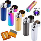 Electric USB Recharging Triple Arc 6 Cross Plasma Windproof Flameless Lighter YH