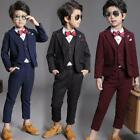 Chic 3Pcs Kid Toddler Boy Formal Suit Coat Pants Vest Outfit Clothes For Wedding