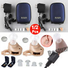 A Pair Rechargeable Digital Small In Ear Hearing Aids Adjustable Tone Amplifier