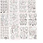 Lovely Young Girls Clear Silicone Stamp/Seal DIY scrapbooking/photo album Decor