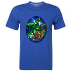 Octopus T-shirt Cartoon Graphic Mens Tee Crew Neck Cotton Top Birthday Gift