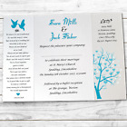 Silhouette Gatefold Wedding Invitations Invites + band and Envs - Pearl card!
