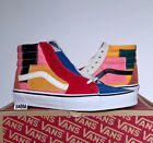 Vans Sk8-Hi Patchwork Multi Color White Red Yellow Blue Pink Colorblocked Size